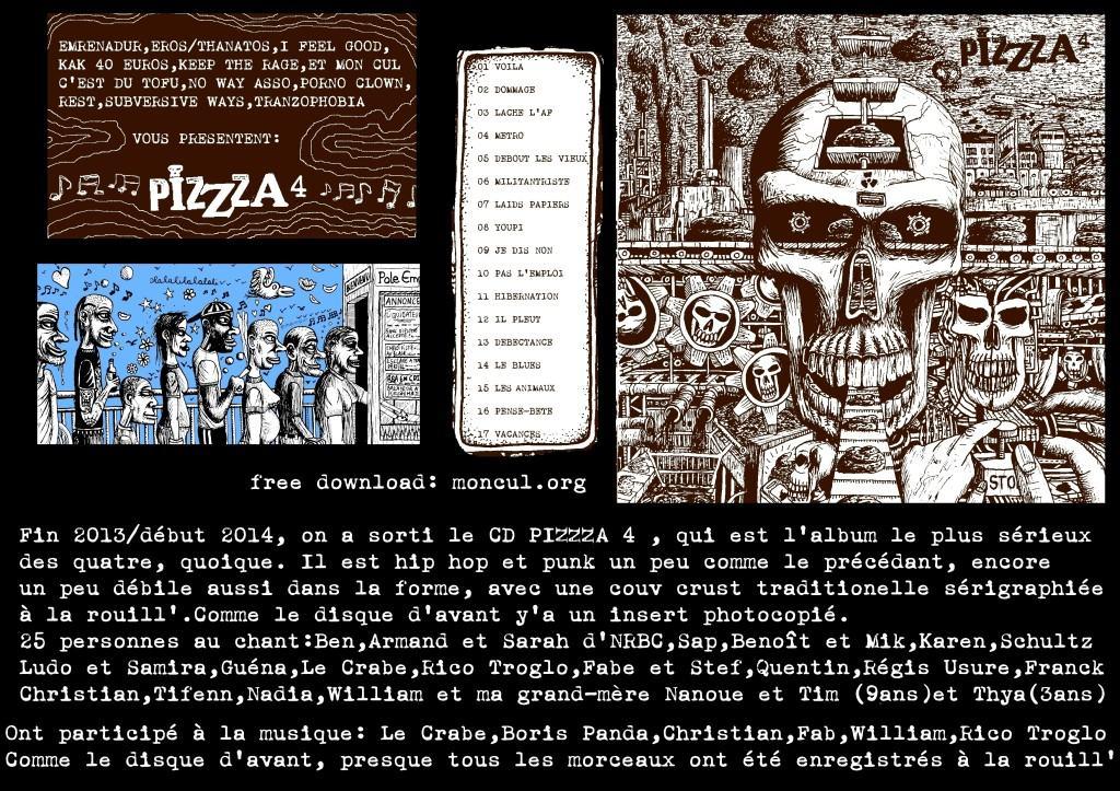 PIZZZA 4 CD présentation