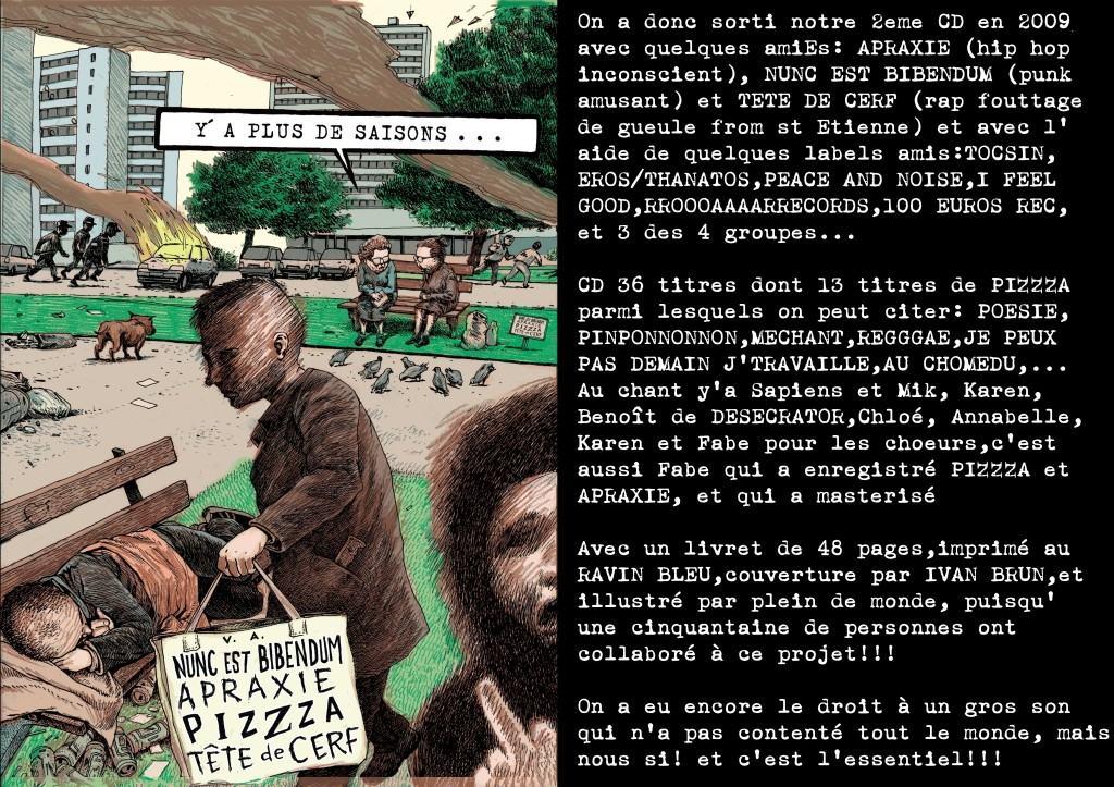 PIZZZA 2 CD présentation y'a plus d'saisons