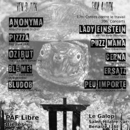 PIZZZA EN LIVE le 3 juin 2016!!!